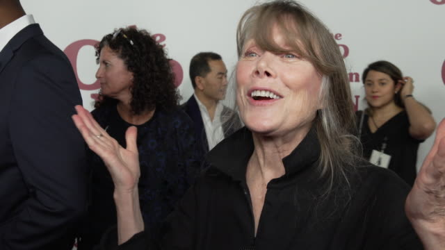 """sissy spacek talks about the plot, her character, working with the cast at """"the old man & the gun"""" new york premiere presented by fox searchight... - sissy spacek stock videos & royalty-free footage"""