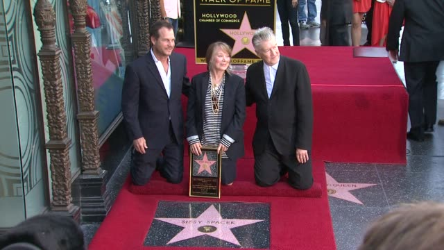 sissy spacek to be honored with star on the hollywood walk of fame, hollywood, ca, united states, 08/01/11 - sissy spacek stock videos & royalty-free footage