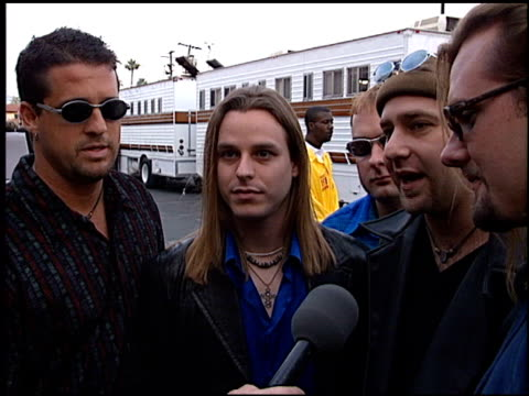 sister hazel at the american music awards 1998 at the shrine auditorium in los angeles, california on january 26, 1998. - shrine auditorium stock videos & royalty-free footage