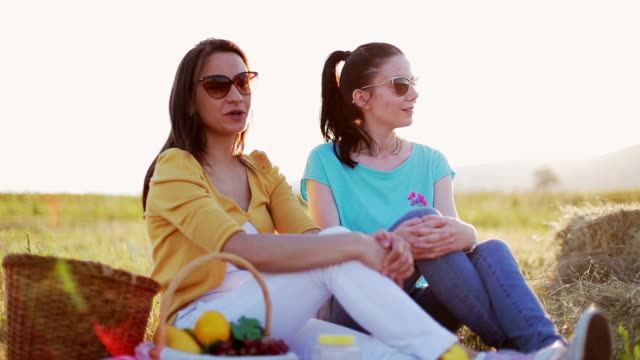 Sisters enjoy beautiful day
