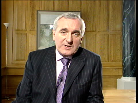 sisters of robert mccartney return from washington republic of ireland dublin int bertie ahern interviewed sot don't disagree with that view but... - martin luther: his life and time stock videos & royalty-free footage