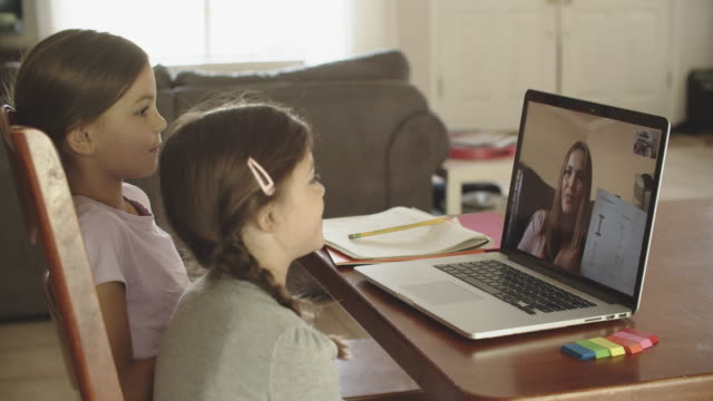 sisters remote learning at home - showing stock videos & royalty-free footage
