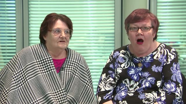 Sisters reunited through online bingo Elaine Walker interview SOT CUTAWAY reporter