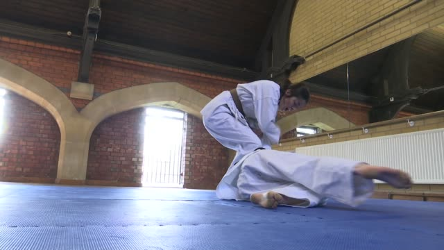 sisters spearhead campaign encouraging women to be more active jiu jitsu sisters spearhead campaign encouraging women to be more active ibush januzi... - jiu jitsu stock videos and b-roll footage