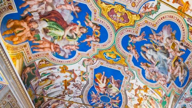 sistine chapel in vatican museums - 壁画点の映像素材/bロール