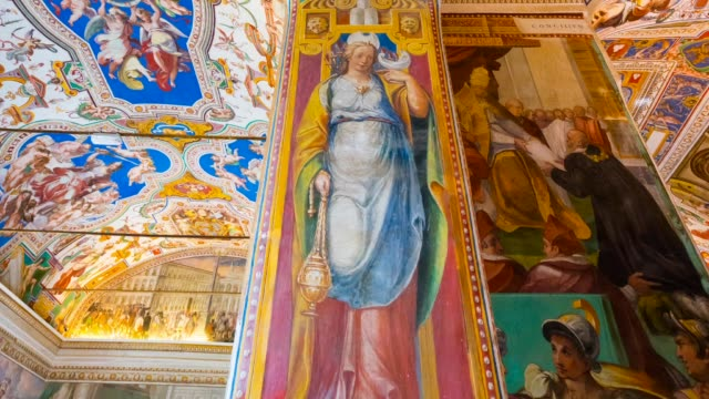 sistine chapel in vatican museums - religion stock videos and b-roll footage