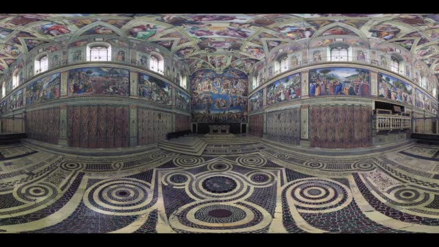 sistine chapel. vatican city - 360 video stock videos & royalty-free footage