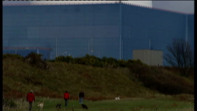 stockvideo's en b-roll-footage met sites for new nuclear power stations revealed suffolk sizewell b nuclear power station white dome and buildings of sizewell b nuclear power station - letter b