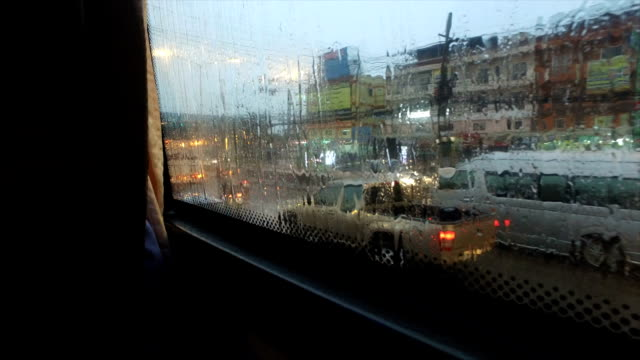 sitting in the car on the street in a rainy day. - staring stock videos & royalty-free footage