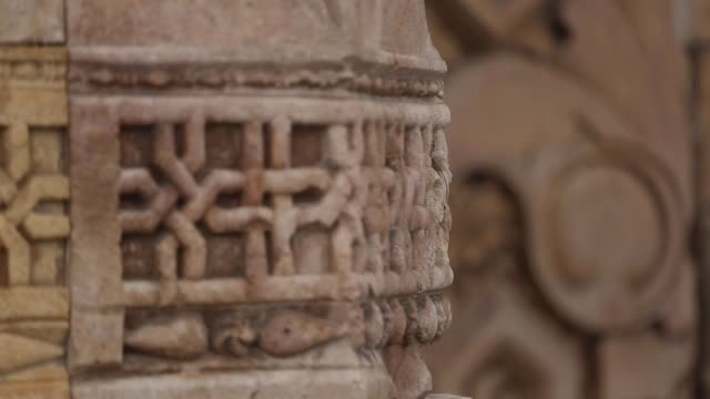 sivas divrigi great mosque and hospital interior and details (sivas divriği ulu camii) - ottoman stock videos & royalty-free footage