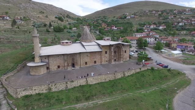 sivas divrigi great mosque and hospital (sivas divriği ulu camii) - minaret stock videos & royalty-free footage