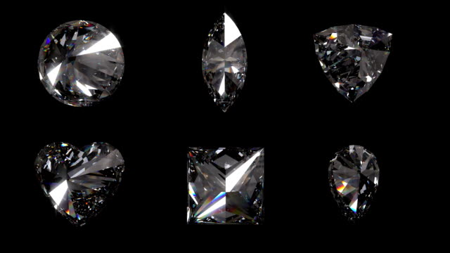 Six Assortment of Diamond Cuts