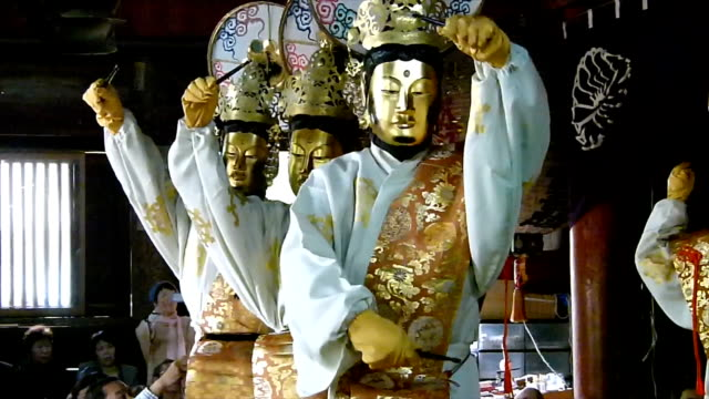 Six Buddhas took to the stage on May 8 at the Matsunoodera temple in Maizuru Kyoto Prefecture Japan to perform an devotional dance with a history...