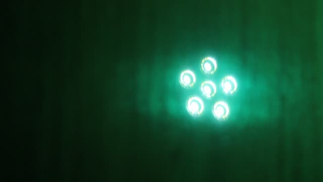 six led lights moving on green background - mirror object stock videos & royalty-free footage