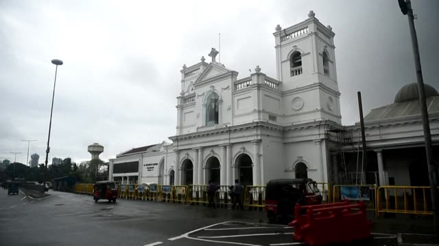 six months after the easter sunday bombings that killed more than 250 people catholics come to pray at st anthony's shrine in colombo sri lanka - place of worship stock videos & royalty-free footage