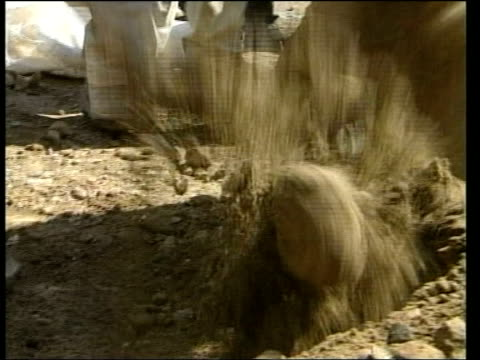 Six months since fall of regime LIB School boys digging trenches in preparation for war Headteacher interviewed SOT