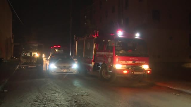 Six Palestinians die in an Israeli raid on a home in the Sheikh Zayed Towers in Beit Lahia in the northern Gaza Strip