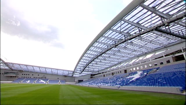 six professional football players arrested over sexual assault of woman england east sussex brighton ext gvs empty interior of brighton and hove... - brighton brighton and hove stock-videos und b-roll-filmmaterial