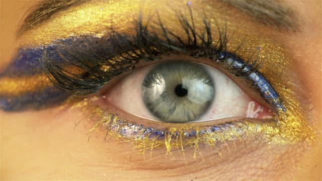 Six videos of beautiful eye in 4K