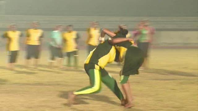 sixteen young pakistani women will make history this weekend as they compete in the kabaddi world cup the first time the conservative muslim country... - lahore stock videos and b-roll footage