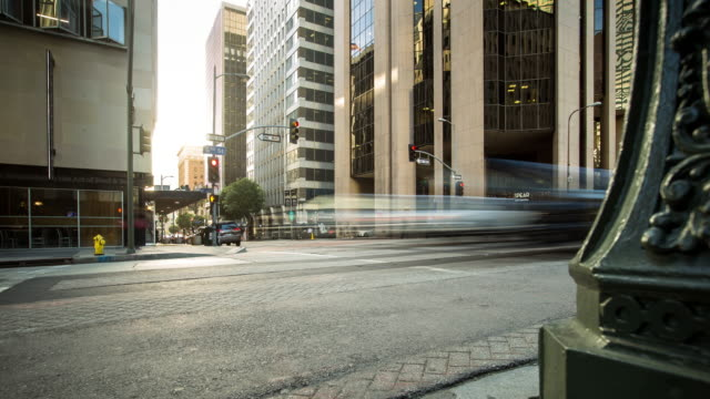 Sixth and Flower, Downtown Los Angeles - Time Lapse