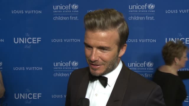 chyron sixth biennial unicef ball honoring david beckham and cl max mikias presented by louis vuitton in los angeles ca - unicef stock videos & royalty-free footage