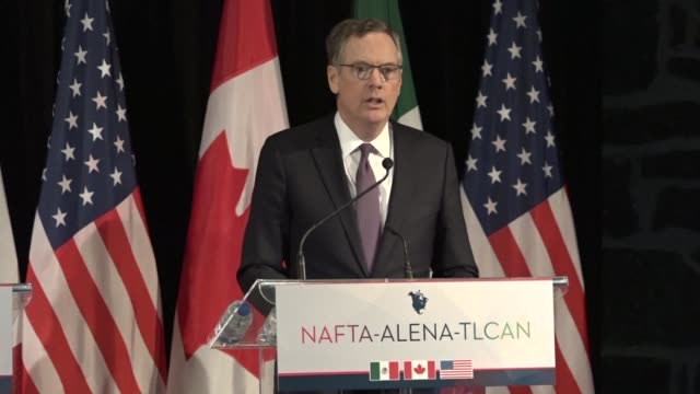 a sixth round of talks aimed at revamping the north american free trade agreement covered key issues but advanced slowly a us trade official says - diplomacy stock videos and b-roll footage