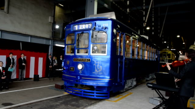 sixty is retirement age for most people, but not nagasaki electric tramway co.'s minato tram. it got a new lease of life after the milestone, and its... - industrial designer stock videos & royalty-free footage