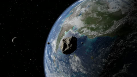 sixty-five million years ago, a six-mile-wide asteroid struck the northern edge of the what is now the yucatan peninsula, possibly causing the extinction of the dinosaurs - impact stock videos & royalty-free footage