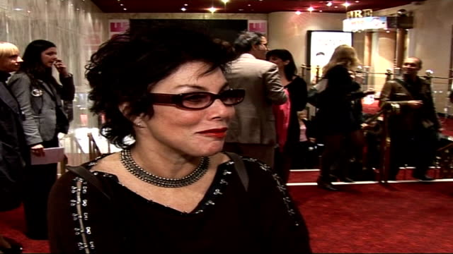 'sixtysix' london film premiere ruby wax interview sot think the cirque de celebritie people are insane / looking forward to getting out of here at... - ruby wax stock-videos und b-roll-filmmaterial