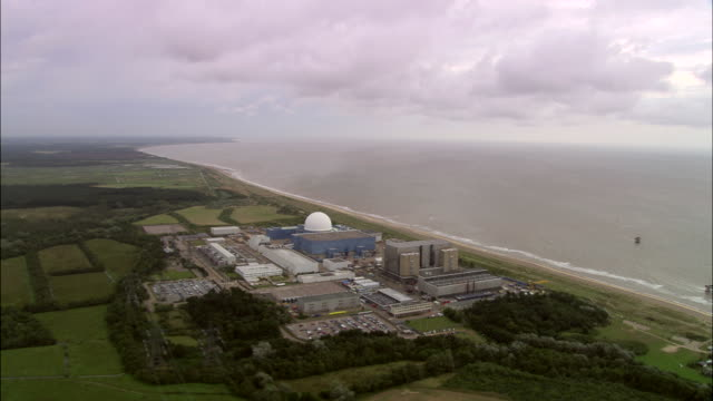sizewell b nuclear power station - nuclear power station stock videos and b-roll footage