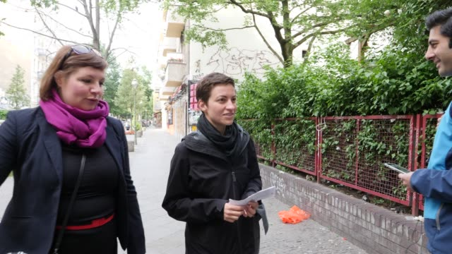 ska keller colead candidate of the german greens party in european union parliamentary elections arrives to cast her ballot on may 26 2019 in berlin... - cast member stock videos and b-roll footage