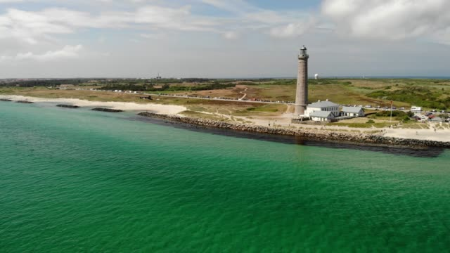 skagen lighthouse in denmark - denmark stock videos & royalty-free footage