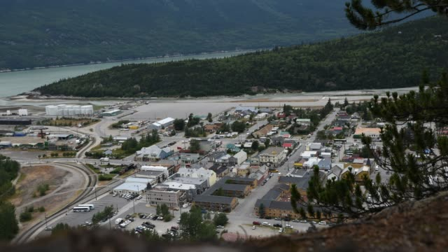 skagway, alaska city life - juneau stock videos and b-roll footage
