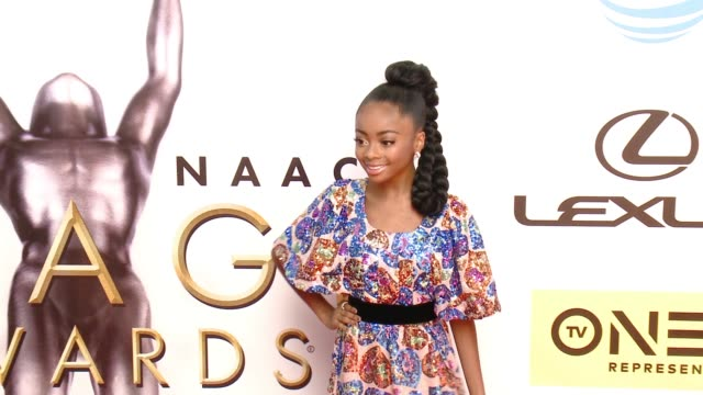 skai jackson at 47th annual naacp image awards at pasadena civic auditorium on february 05 2016 in pasadena california - pasadena civic auditorium stock-videos und b-roll-filmmaterial