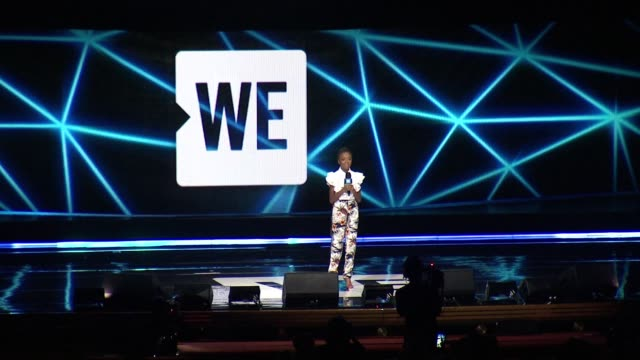 skai jackson shares advice on what to do about bullying at we day new york welcome to celebrate young people changing the world at radio city music... - radio city music hall stock-videos und b-roll-filmmaterial