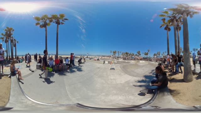 skate park venice beach, los angeles, california usa - 360 stock videos & royalty-free footage