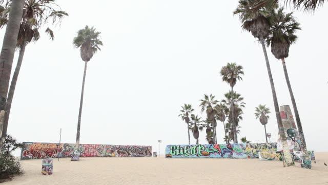 stockvideo's en b-roll-footage met skate park, venice beach, los angeles county, california - skateboardpark
