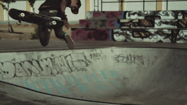 skateboard fall - graffiti stock videos & royalty-free footage
