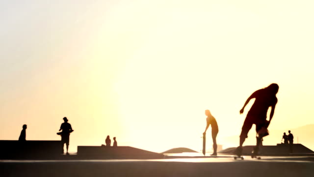skateboard girl - skateboard park stock videos & royalty-free footage