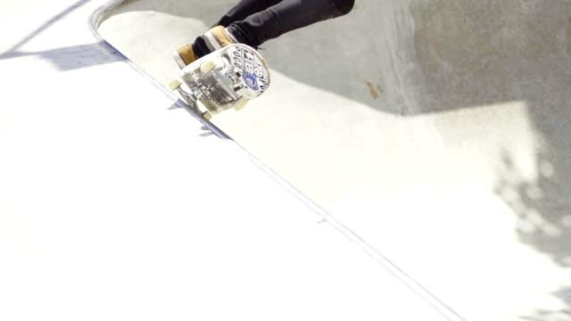 skateboard grind & front side air - skateboard park stock videos & royalty-free footage