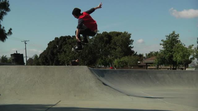 skateboard hip ollie - skateboard stock videos & royalty-free footage