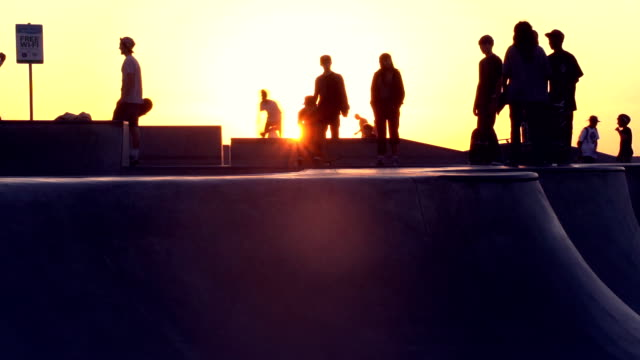 skateboard in venice - venice beach stock videos and b-roll footage