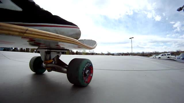 MS POV Skateboard riding at skate park / Denver Colorado, United States