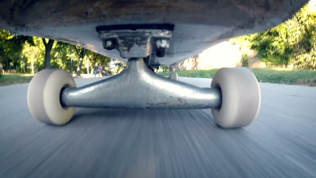 skateboard wheels.close up - wheel stock videos & royalty-free footage
