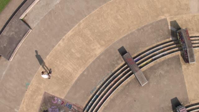 skateboarder at skatepark - staffordshire england stock videos & royalty-free footage