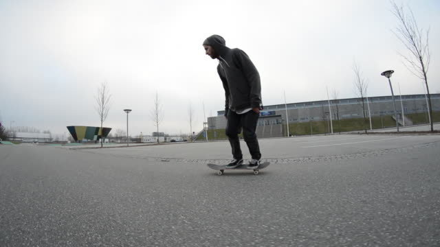 A Skateboarder Doing A Trick 1920x1080 Stock Footage Video - Getty