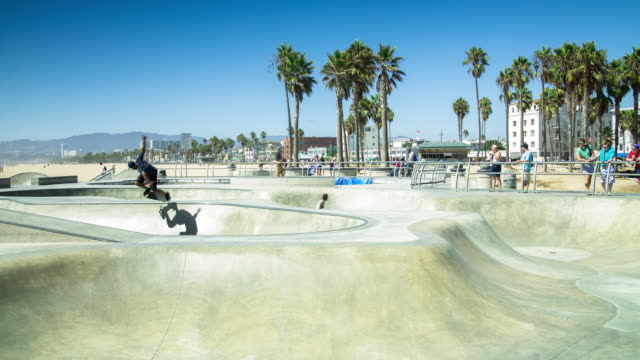 Skateboarding at Venice Beach - Time Lapse