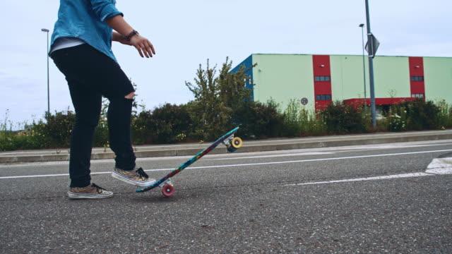 Skateboarding down the road
