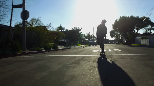 skateboarding teenager - balance stock videos & royalty-free footage